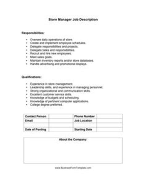 Free Job Description Templates | Job interviews | Job