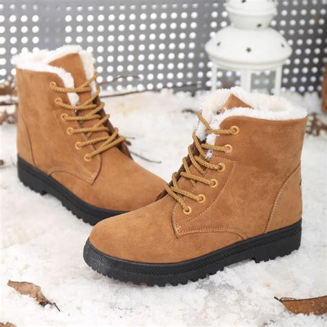 It Or Leave It The Must Winter Boots This Year Are Shearling Will You Be Cozying Up by Snow Boots 35 42 Winter Ankle Boots Plus Size Snow
