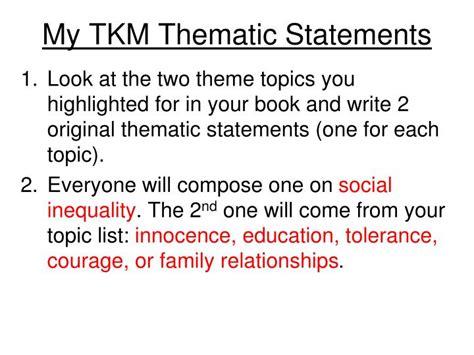 to kill a mockingbird theme family relationships ppt theme statements vs topics powerpoint presentation