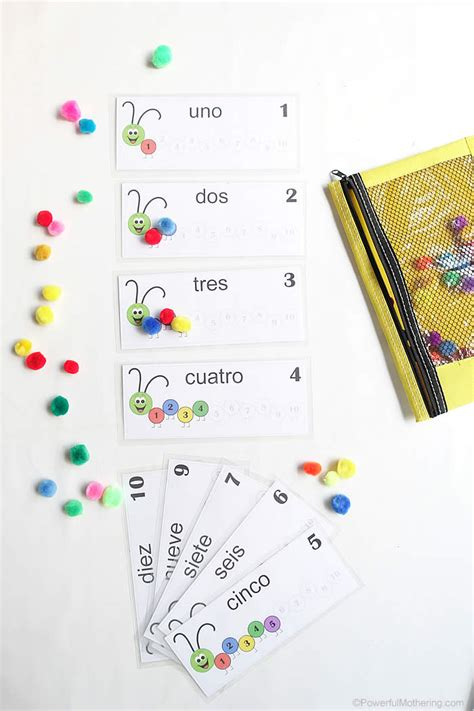 pattern recognition in french counting caterpillar busy bag printable numbers 1 10