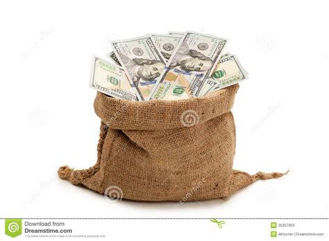 bag of new 100 dollar bills stock image image 35257953