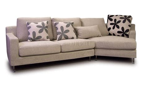 beige sectional sofa light beige fabric modern sectional sofa w metal legs