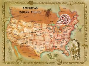 map of american tribes in america american indian tribes