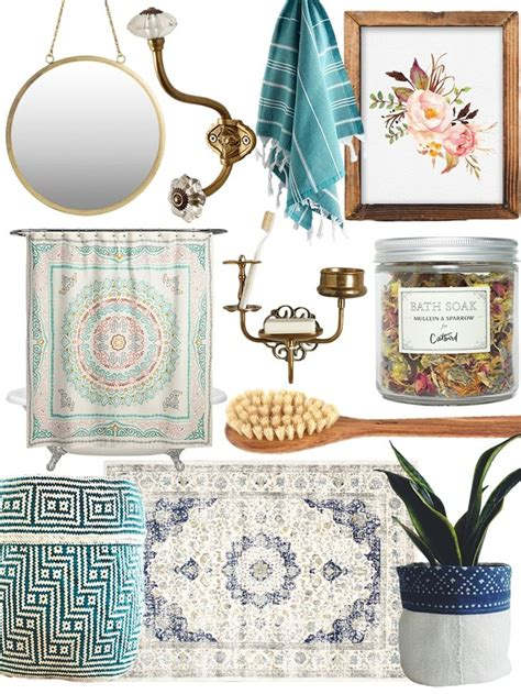 boho bathroom decor 25 b 228 sta bohemian bathroom id 233 erna p 229 pinterest