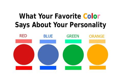 what is your favorite color what your favorite color says about your personality