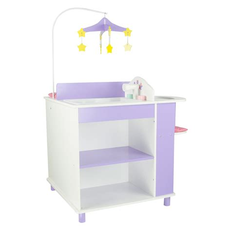doll changing table station teamson princess baby doll changing station