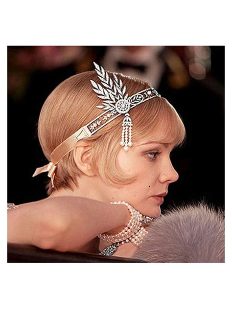 gatsby accessories for curly hair the great gatsby hair accessories crystal pearl tassels