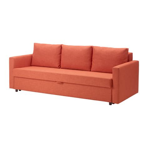 ikea couch bed friheten three seat sofa bed skiftebo dark orange ikea