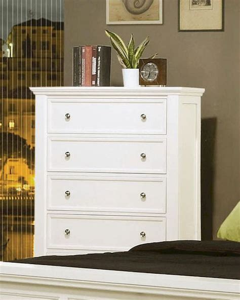 sale 2130 00 sandy beach 5 pc white bedroom set coaster sandy beach 5 drawer chest in white co 201305