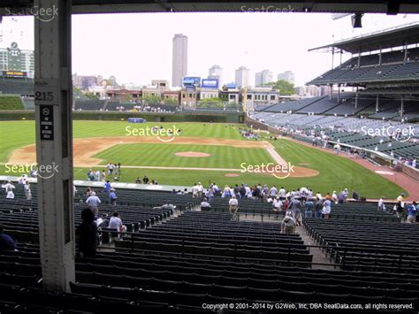 section 216 wrigley field wrigley field seat views seatgeek