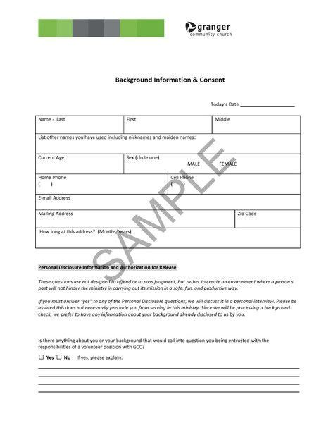 Generic Background Check Consent Form 133 Best Background Checks Images On