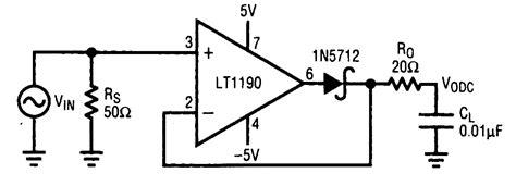 schottky diode rf detector circuit closed loop peak detector measuring and test circuit circuit diagram seekic