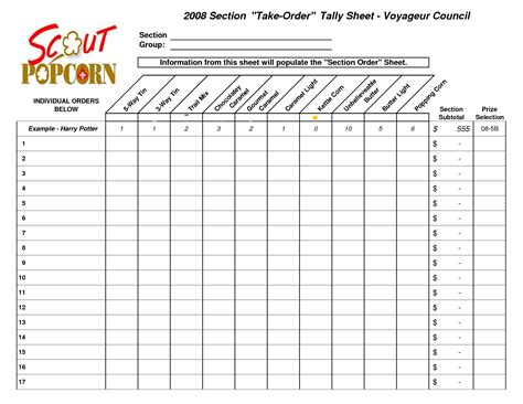 best photos of tally sheet template voting tally sheet