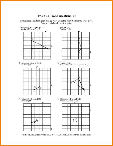 Identify The Transformation Worksheet by 100 Identify The Transformation Worksheet