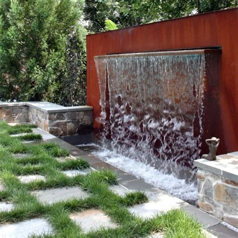 waterfall in backyard modern waterfall fountain in the backyard different types of pond fountains