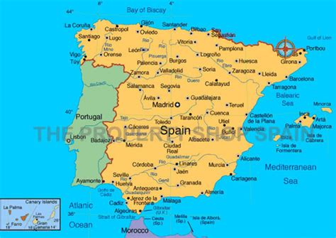 map of alicante area maps the property shop spain