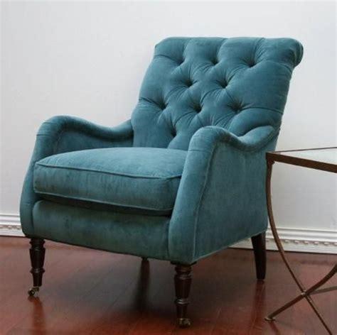 blue velvet armchair peacock blue velvet tufted club chair home decor