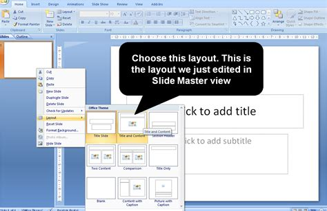 how to create a master slide in powerpoint youtube using