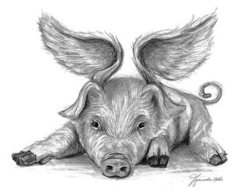 When Pigs Fly Wings Recipe — Dishmaps Flying Pig Drawing