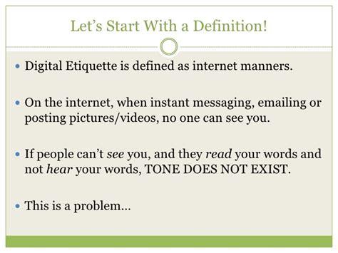 what is digital etiquette