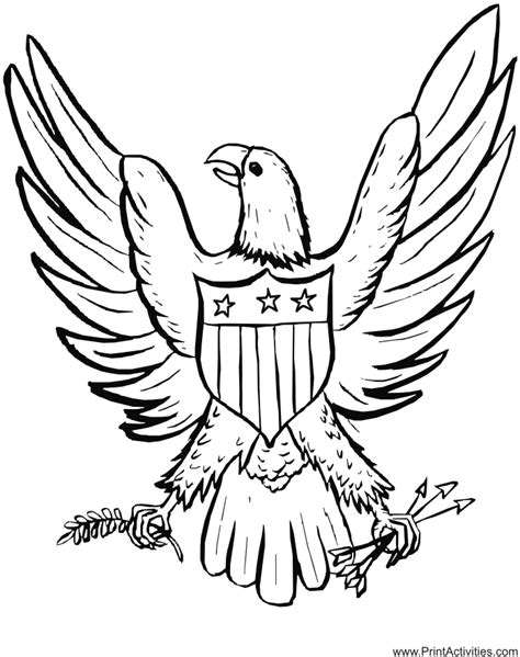 coloring pages of the american eagle free eagle coloring pages coloring home