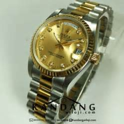 jual rolex day date 36 mm silver gold