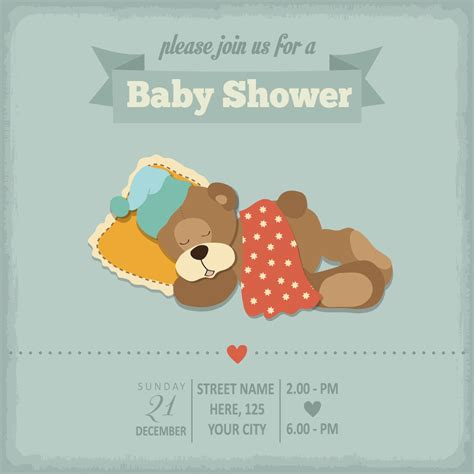 baby carriage shower invitations template