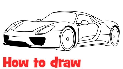porsche drawing how to draw a car porsche 918 spyder by