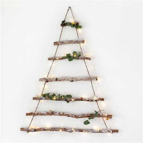 christmas trees made from branches birch branch hanging tree by lights4fun notonthehighstreet