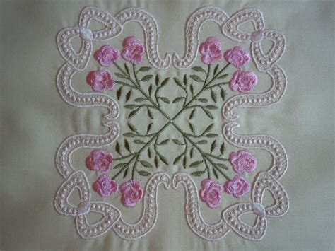 Quilting Designs For Embroidery Machine by Items Similar To Stitched Machine Embroidery Quilting
