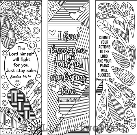printable bible bookmarks to color 6 bible verse coloring bookmarks plus 3 designs with blank