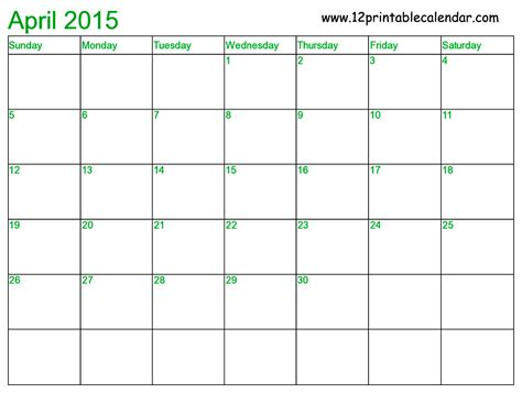 2015 April Calendar Printable Best Photos Of April 2015 Calendar With Holidays April