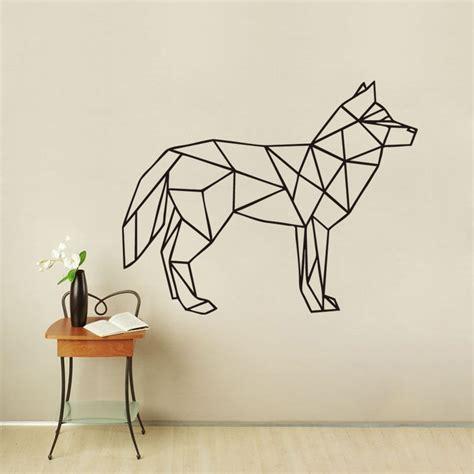 g116 wolf wall decal geometric animal wolf art wall