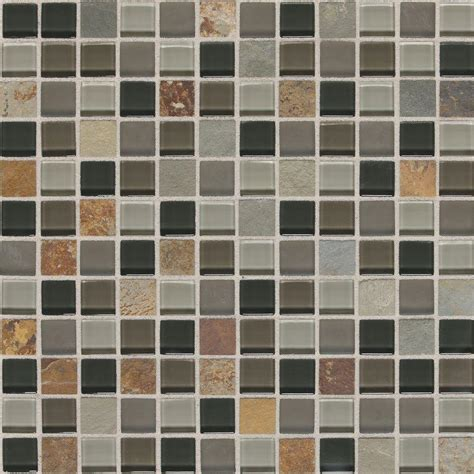 daltile slate radiance flint 12 in x 12 in x 8 mm glass