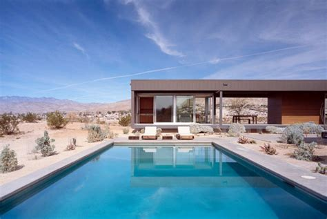 Passive Solar Home Design Concepts by Modular Desert House In California Modern House Designs