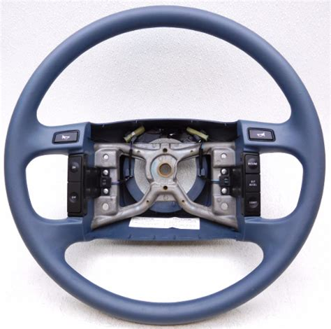 new oem ford 1992 1996 e150 steering wheel with cruise control blue alpha automotive