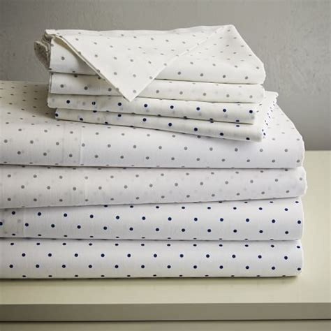 polka dot bed sheets polka dot sheet sets west elm
