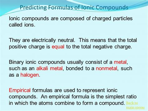 predicting formulas of ionic compounds ionic bonding and nomenclature ppt video online download
