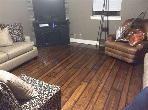 My new hardwood floors. DIY: sand & stain 2x4, 2x6, & 2x8