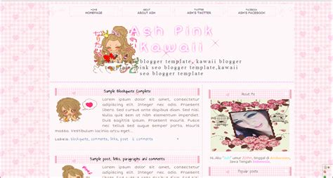 templates for blogger cute image gallery kawaii blogspot