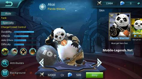Akai Panda Warrior akai tank build 2018 mobile legends