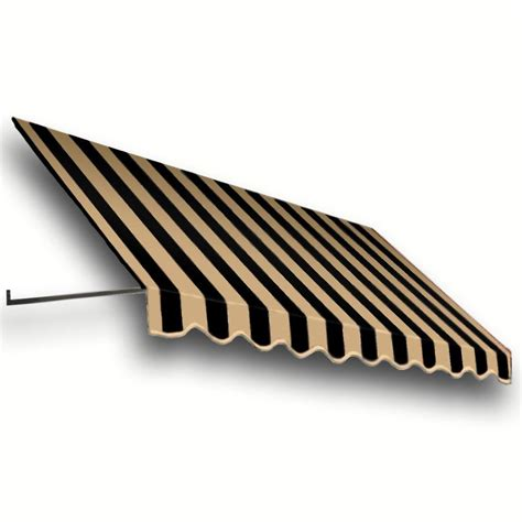 18 foot awning awntech 18 ft dallas retro window entry awning 44 in h x 24 in d in black tan