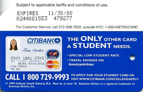 Credit Card For New Mba Students by Nyc Transit Metrocard Unofficial Web Site 183 Citibank