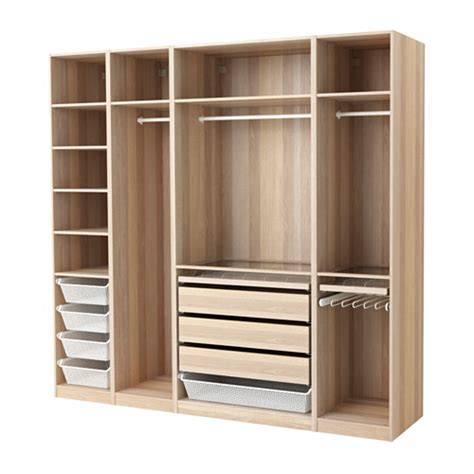 ikea pax kleiderschrank pax wardrobe white stained oak effect 250x58x236 cm ikea