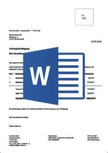 Angebot Annehmen Musterbrief Auftragsbest 228 Tigung Muster Vorlage