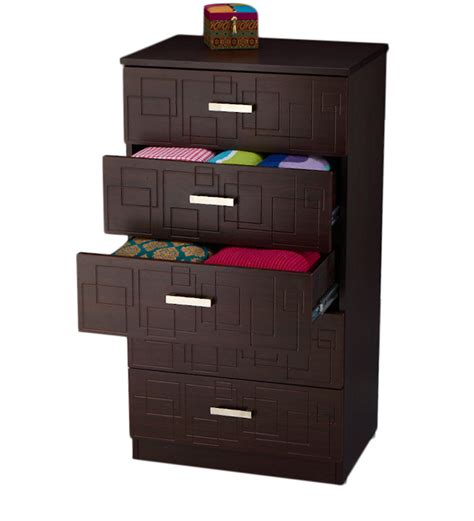godrej recliners squadro chest of drawer in cinnamon colour by godrej