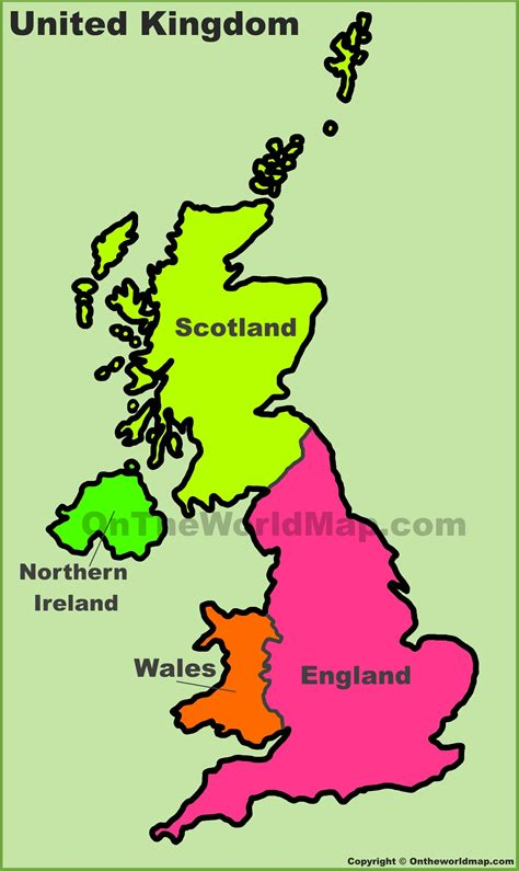 map of britain and europe uk maps of united kingdom great britain and northern map