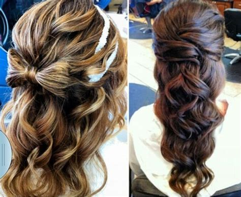 Partial Updos Photos | partial updo nails done hair done everything did