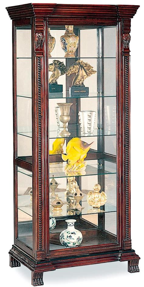 Curio Shelf by Coaster Curio Cabinets 6 Shelf Rectangular Curio Cabinet