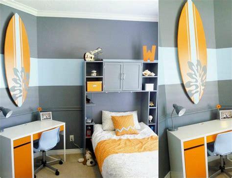 deco peinture chambre enfant d 233 co chambre enfant avec planche de surf 50 inspirations